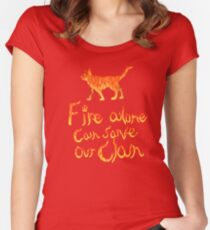 Fire Alone... Women's Fitted Scoop T-Shirt