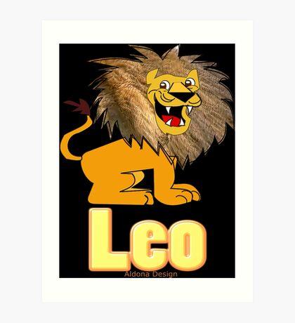 Leo Zodiac Sign  (4296 Views) Art Print