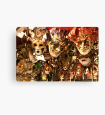 Masks in Venice Canvas Print