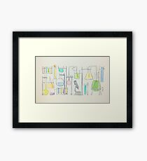 Mad Scientist Framed Print