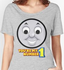 "Thomas & Friends - Thomas ""You're My Number 1"" Women's Relaxed Fit T-Shirt"