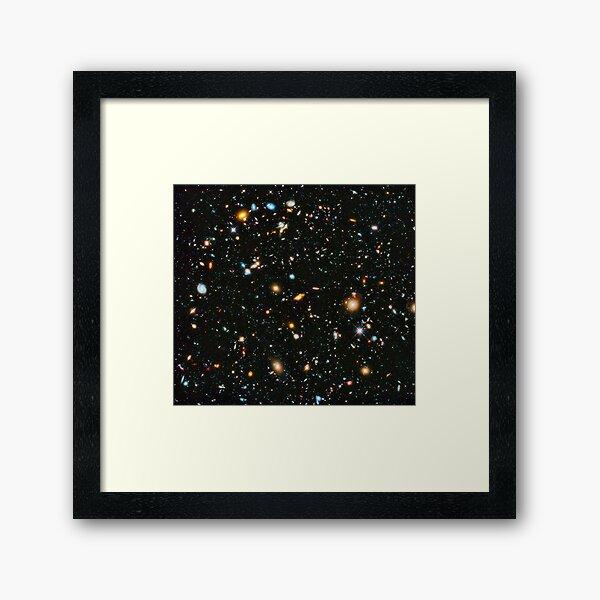 Hubble Extreme Deep Field Landscape Framed Art Print