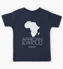 African & proud (white) Kids Tee