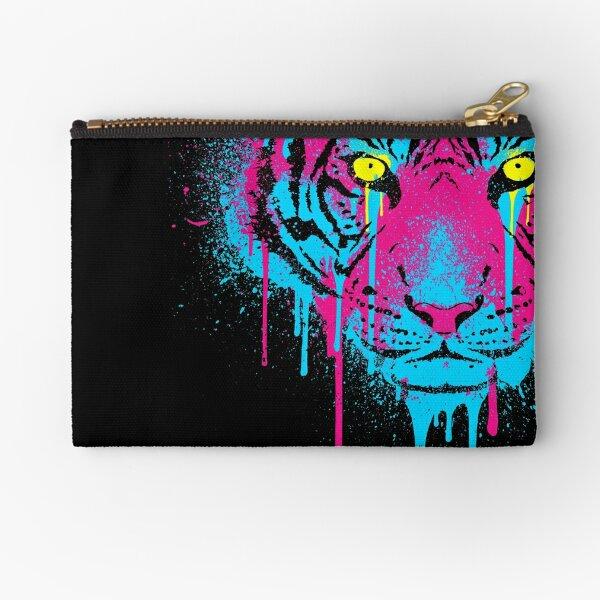 CMYK Tiger Graffiti Zipper Pouch