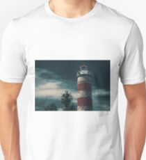 Cape Moreton Lighthouse on the North part of Moreton Island. Abstract lighting. T-Shirt