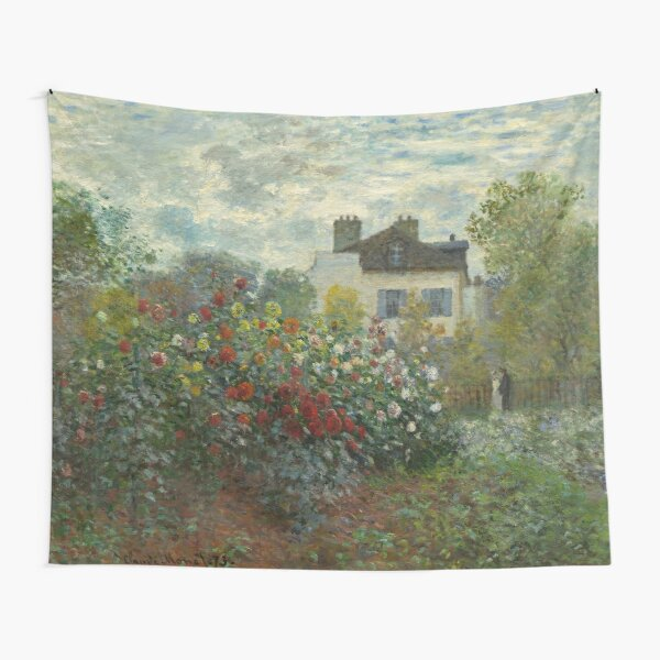 Claude Monet  A Corner of the Garden with Dahlias Tapestry