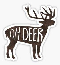 Oh Deer! Pun Sticker
