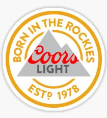 rachelhugh73 Coors Light Born in Rockies Sticker Sticker