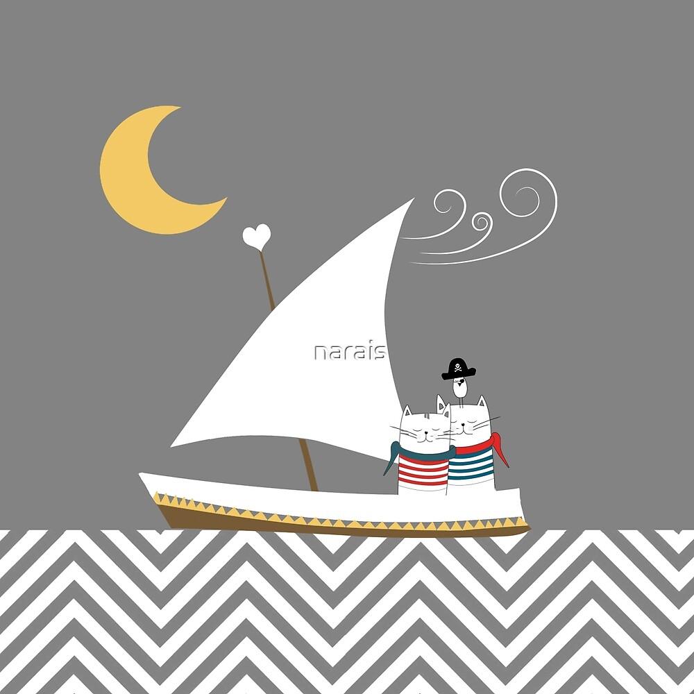 Nautical Cats by narais