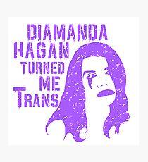 Diamanda Hagan Turned Me Trans (Purple) Photographic Print