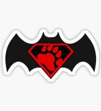 SuperBear Vs BatBear Sticker