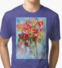 Pink Abstract - I   Tri-blend T-Shirt