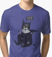 Geek Cat Tri-blend T-Shirt