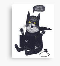 Geek Cat Canvas Print