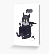 Geek Cat Greeting Card
