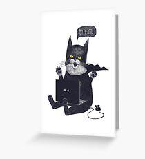 Geek Cat Greeting Card