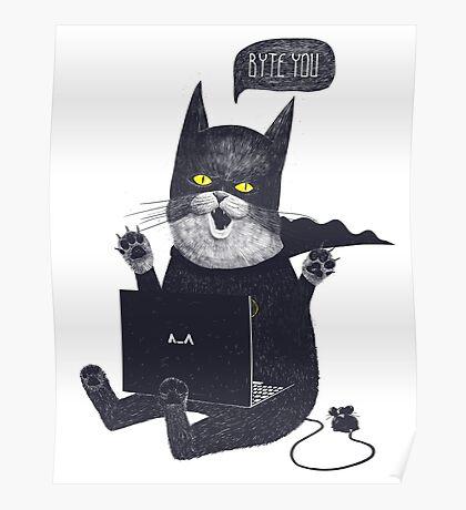 Geek Cat Poster