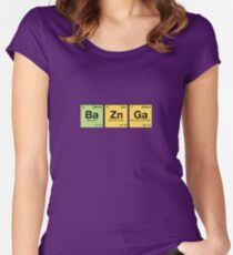 Ba Zn Ga! - periodic elements scrabble Women's Fitted Scoop T-Shirt