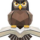 Vector, Brown Owl fly with the book by Jatmika Jati