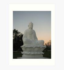 Budda at Sunset Art Print