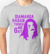 Diamanda Hagan Turned Me Gay (Purple) Unisex T-Shirt