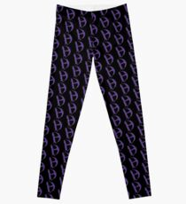 Diamanda Hagan D-H Logo (Purple) Leggings
