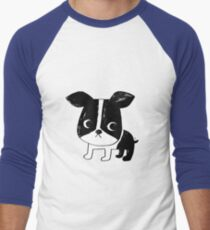 Boston Terrier Men's Baseball ¾ T-Shirt