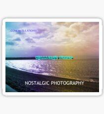 Nostalgic Photography Challenge Winner Banner Sticker