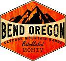 BEND OREGON MOUNT BACHELOR Mountain Skiing Ski Snowboard Snowboarding by MyHandmadeSigns