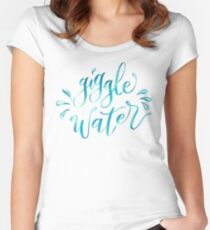 Giggle Water Hand Lettered Design Women's Fitted Scoop T-Shirt