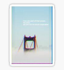 Foggy Golden Gate Sticker