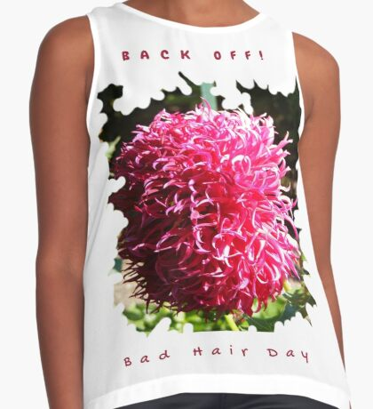 BAD HAIR DAY, PINK DAHLIA FLOWER Contrast Tank