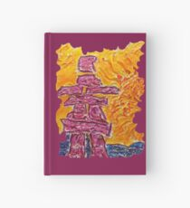 NORTHERN ART INUKSHUK NORTHERN SUNSET, FUNNY QUOTE HI ARCTIC Hardcover Journal