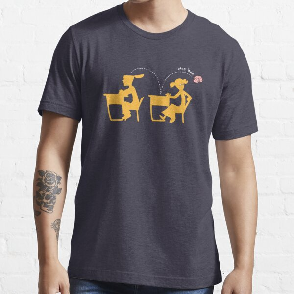 Wee-Hee (white lines) Essential T-Shirt