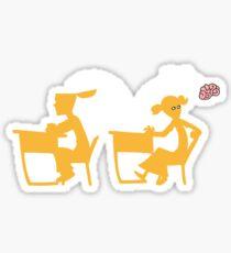 Wee-Hee (white lines) Sticker