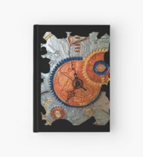 STEAMPUNK FANTASY GEARS, ONCE UPON A TIME FUNNY QUOTE Hardcover Journal