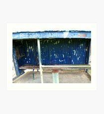 Arden street,North Melbourne, Football Ground-REEFER  STAND Art Print