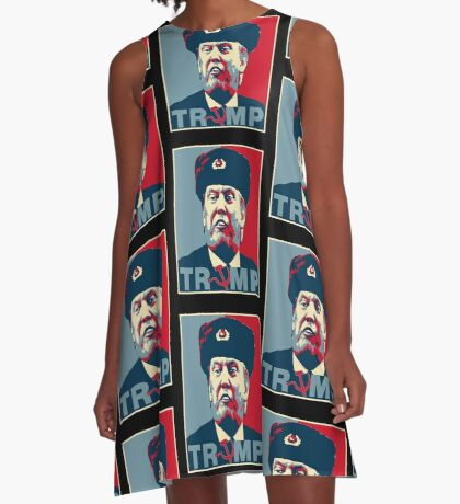 Trump Russia Poster A-Line Dress