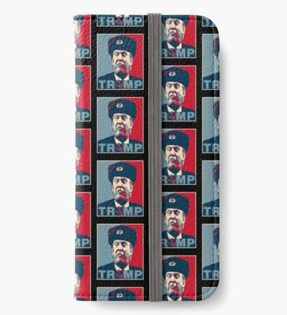 Trump Russia Poster iPhone Wallet