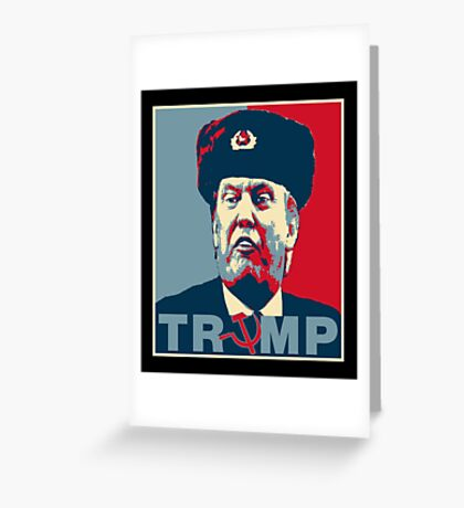 Trump Russia Poster Greeting Card