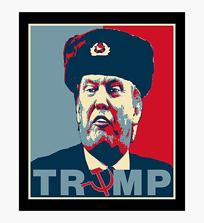 Trump Russia Poster Photographic Print