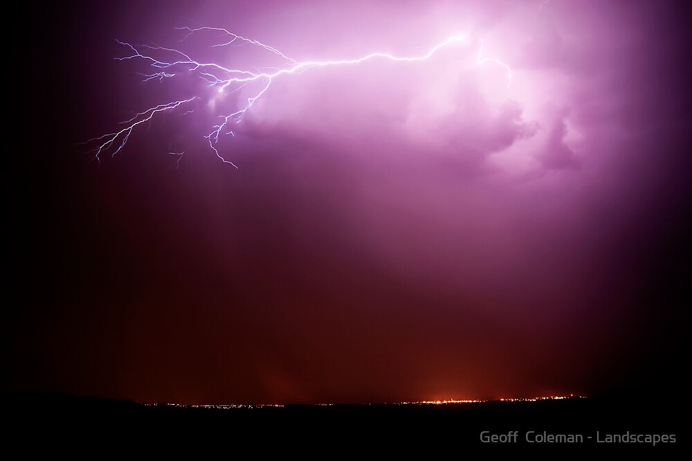 Wrathful Night in the City of Light by Geoff  Coleman - Landscapes
