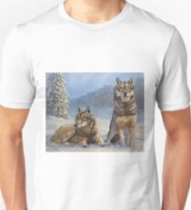 Timber Wolves in the Snow T-Shirt
