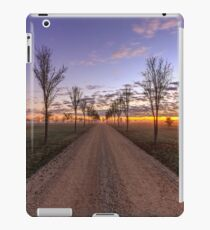 Country dirt road at sunrise iPad Case/Skin