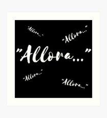 """Allora..."" (""Well..."") Art Print"