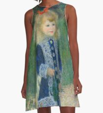 Auguste Renoir A Girl with a Watering Can 1876 Painting A-Line Dress