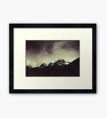 Shadow Mountains - Cloudy Italian Alps Framed Print