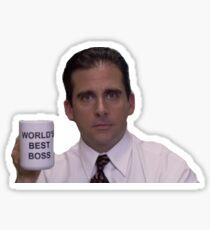 michael scott best boss Sticker