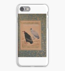 Red-Headed Vulture and Long-Billed Vulture , Folio from the Shah Jahan Album, Painting by Mansur iPhone Case/Skin