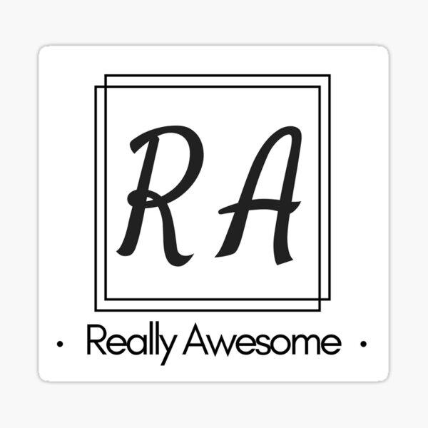 RA Really Awesome Sticker